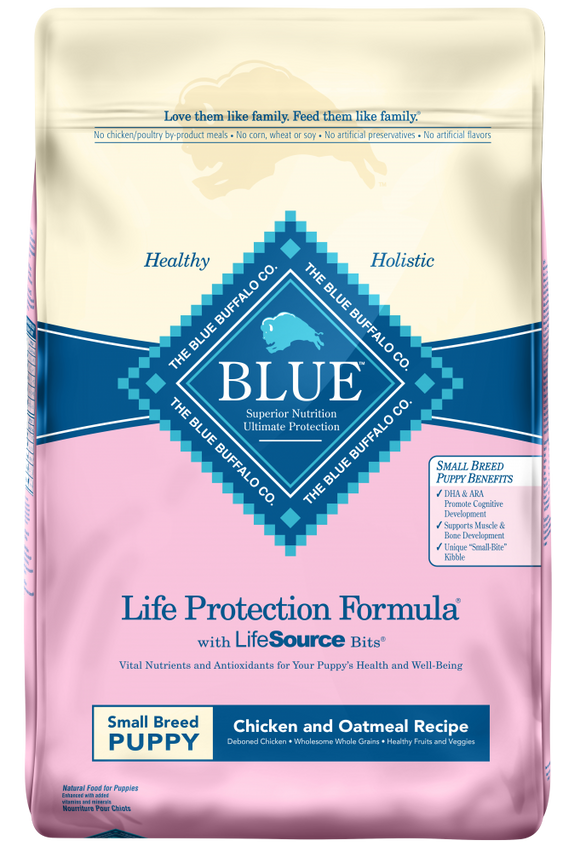 Blue Buffalo Life Protection Small Breed Puppy Chicken and Oatmeal Recipe Dry Dog Food