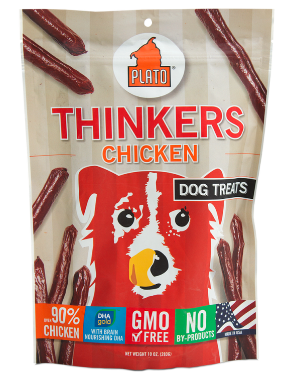Plato New Thinkers Chicken Sticks Dog Treats