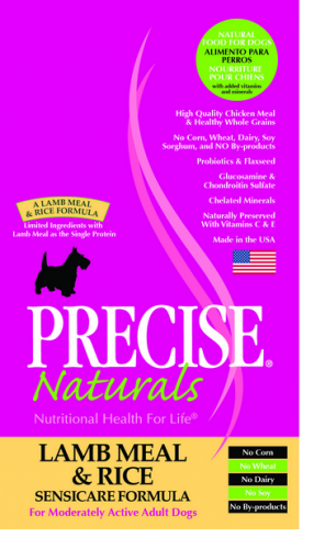 Precise Naturals Sensicare Formula Lamb Meal And  Rice Dry Dog Food