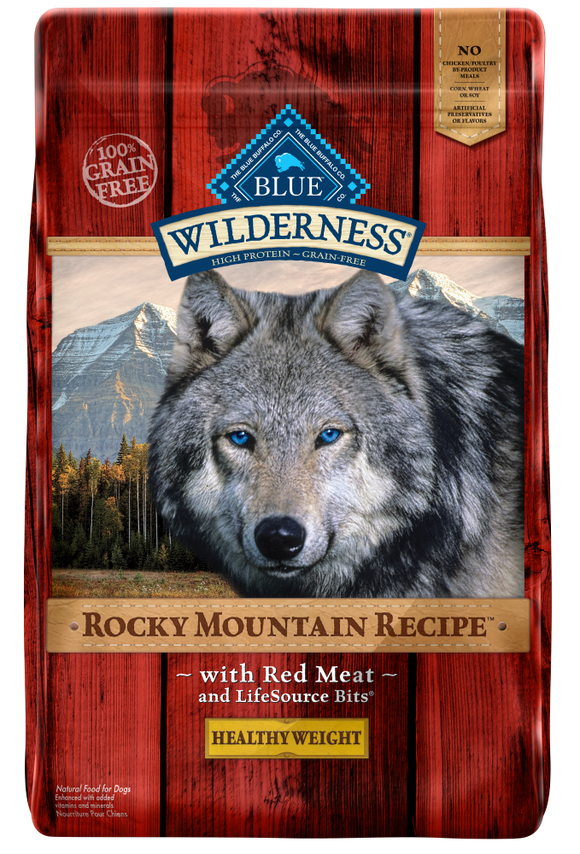 Blue Buffalo Wilderness Rocky Mountain Recipe Adult Healthy Weight Red Meat Dry Dog Food