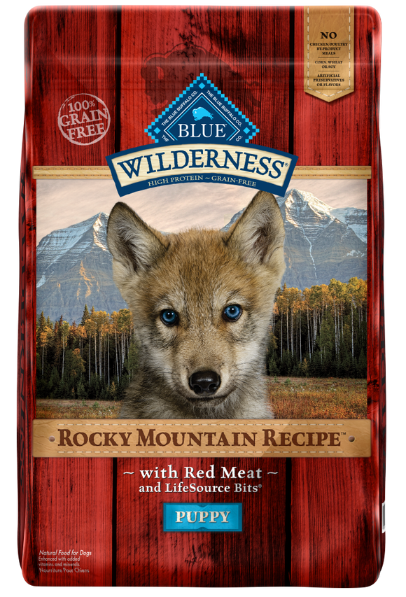 Blue Buffalo Wilderness Rocky Mountain Recipe Puppy Red Meat Dry Dog Food