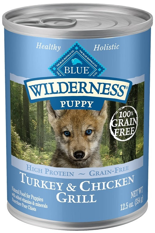 Blue Buffalo Wilderness Turkey and Chicken Grill Puppy Canned Dog Food
