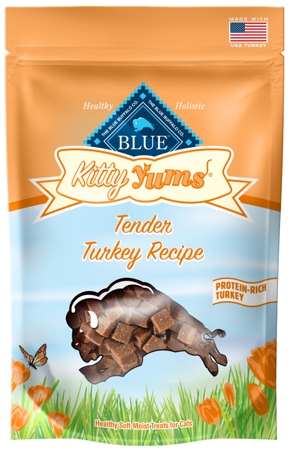 Blue Buffalo Kitty Yums Tender Turkey Natural Soft Moist Cat Treats