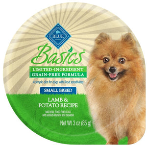 Blue Buffalo Basics Limited Ingredient Diet Grain Free Adult Lamb and Potato Dog Food Cups