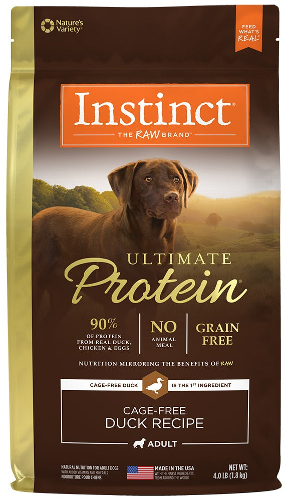 Nature's Variety Instinct Ultimate Protein Grain Free Duck Formula Dry Dog Food
