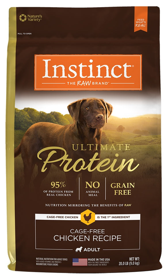 Nature's Variety Instinct Ultimate Protein Grain Free Chicken Formula Dry Dog Food