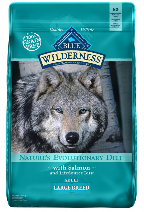 Blue Buffalo Wilderness Large Breed Salmon Recipe Grain-Free Dry Dog Food