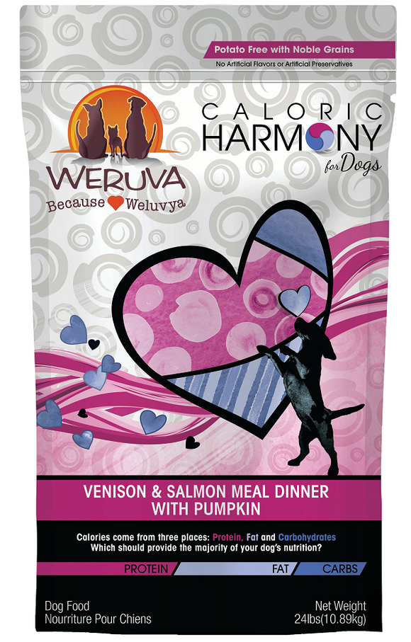 Weruva Caloric Harmony Venison and Salmon Meal Dinner with Pumpkin Dry Dog Food