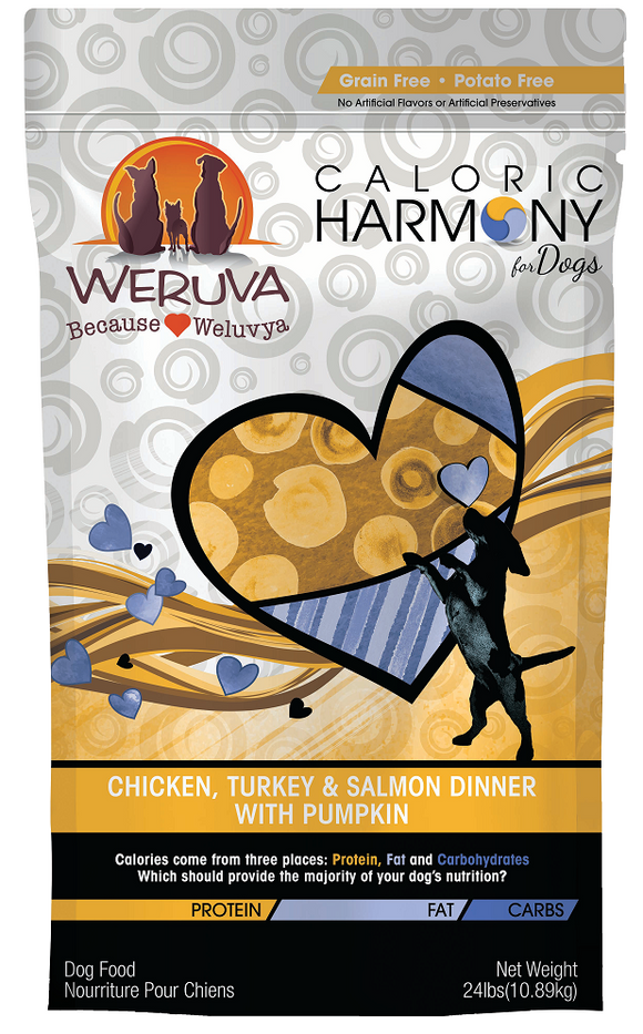 Weruva Caloric Harmony Grain Free Chicken Turkey and Salmon Dinner with Pumpkin Dry Dog Food