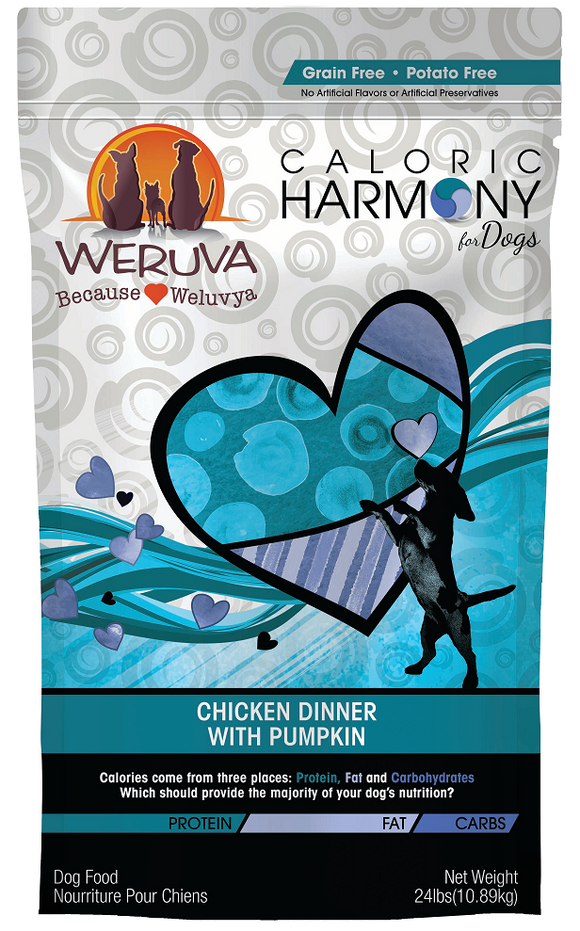 Weruva Caloric Harmony Grain Free Chicken Dinner with Pumpkin Dry Dog Food
