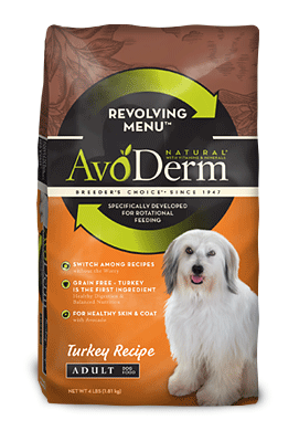 Avoderm Revolving Menu Grain Free Turkey Recipe Adult Dry Dog Food