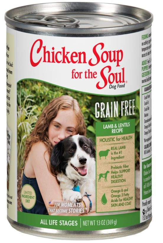 Chicken Soup For The Soul Grain Free Limited Ingredient Diet Lamb and Lentils Canned Dog Food