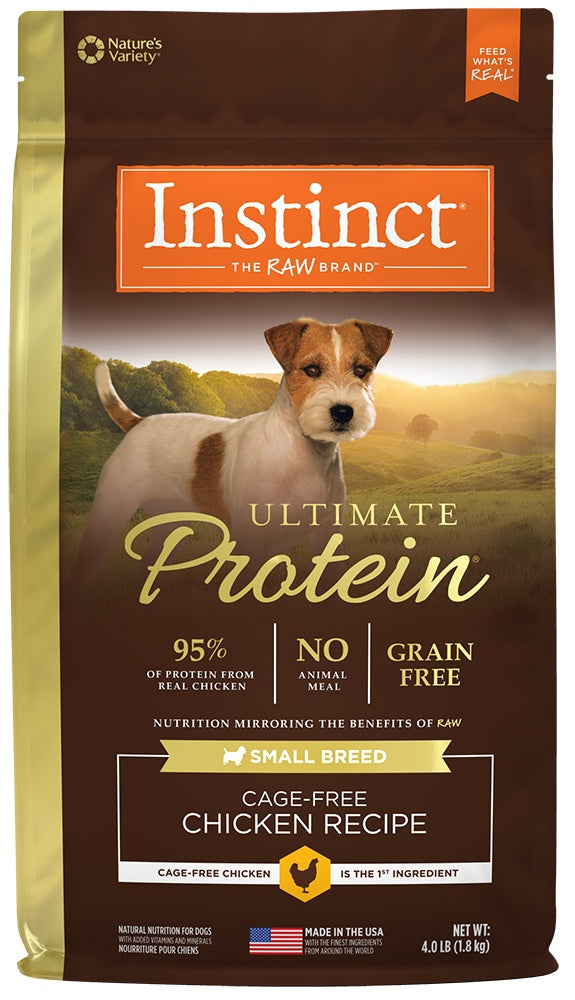 Nature's Variety Instinct Ultimate Protein Small Breed Grain-Free Chicken Meal Formula Dry Dog Food