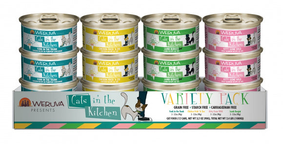 Weruva Grain Free Cats in the Kitchen Canned Variety Pack