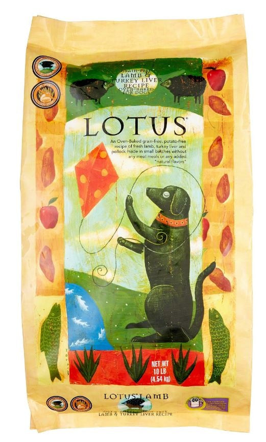Lotus Grain Free Lamb and Turkey Liver Dry Dog Food