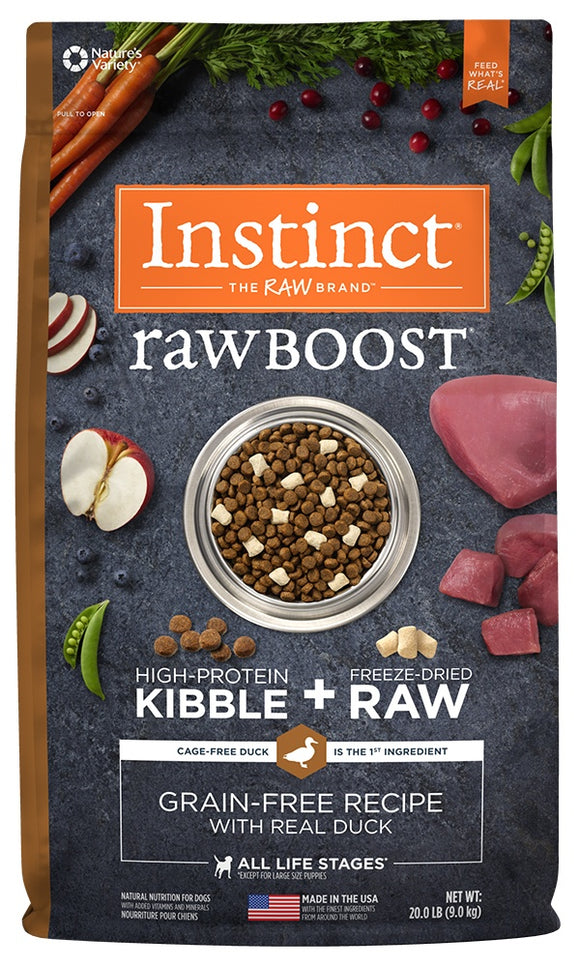 Nature's Variety Instinct Raw Boost Grain Free Recipe with Real Duck Natural Dry Dog Food