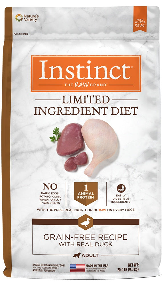 Nature's Variety Instinct Limited Ingredient Diet Adult Grain Free Recipe with Real Duck Natural Dry Dog Food