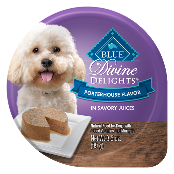 Blue Buffalo Divine Delights Small Breed Porterhouse Pate Dog Food Cup