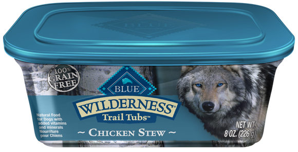 Blue Buffalo Wilderness Trail Tubs Grain Free Chicken Stew Dog Food Tray