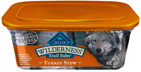 Blue Buffalo Wilderness Trail Tubs Grain Free Turkey Stew Dog Food Tray