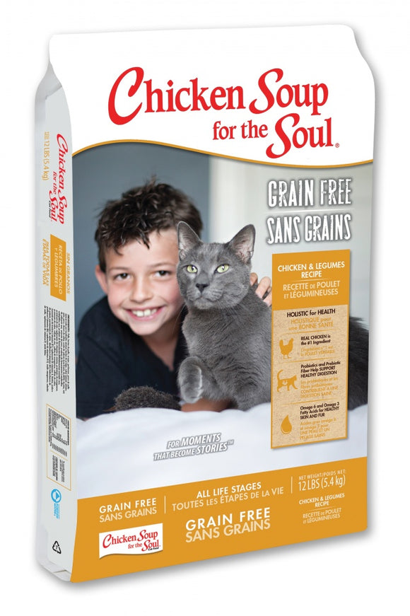 Chicken Soup For The Soul Grain Free Chicken and Legumes Dry Cat Food