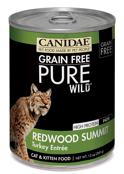 Canidae Grain Free PURE Wild Redwood Summit Turkey Pate Canned Cat Food