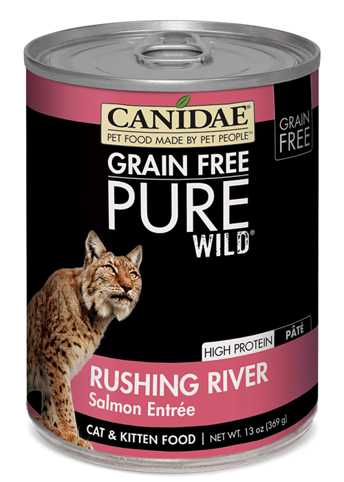 Canidae Grain Free PURE Wild Rushing River Salmon Pate Canned Cat Food