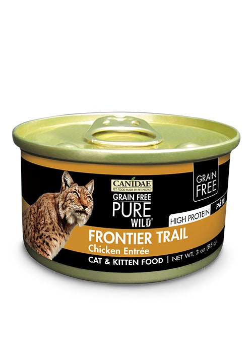 Canidae Grain Free PURE Wild Frontier Trail Chicken Pate Canned Cat Food