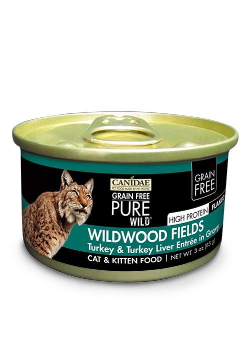 Canidae Grain Free PURE Wild Wildwood Fields Turkey and Turkey Liver Canned Cat Food