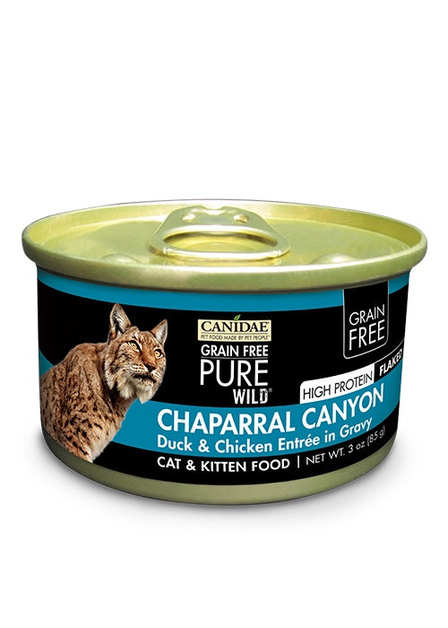 Canidae Grain Free PURE Wild Chaparral Canyon Duck and Chicken Flaked Canned Cat Food