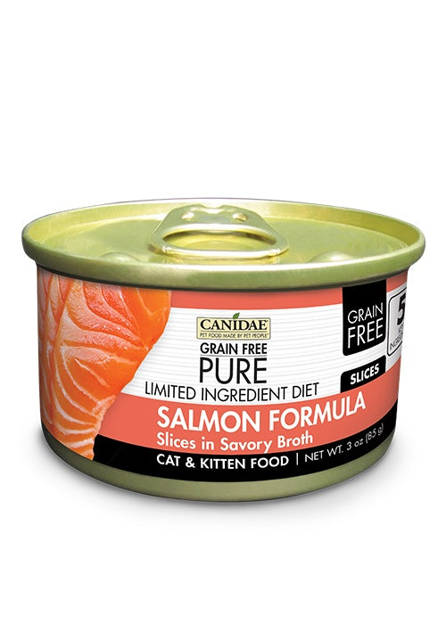 Canidae Grain Free PURE Limited Ingredient Diet Salmon Recipe Canned Cat Food
