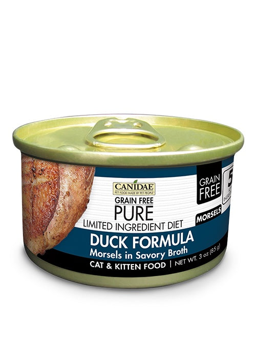 Canidae Grain Free PURE Limited Ingredient Diet Duck Morsels in Broth Canned Cat Food