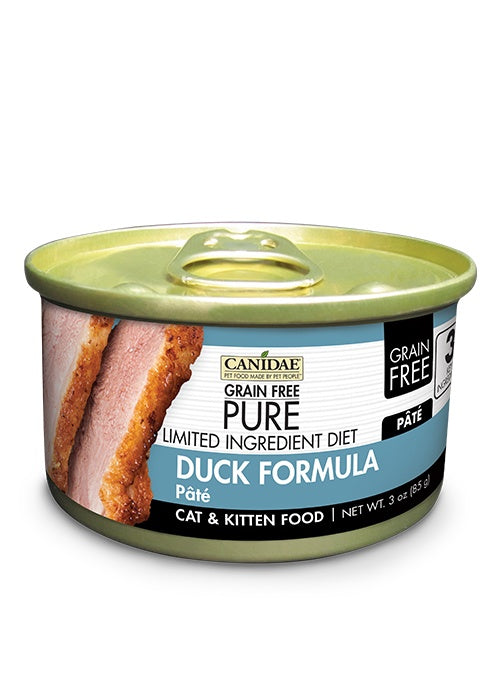 Canidae Grain Free PURE Limited Ingredient Diet Duck Pate Canned Cat Food