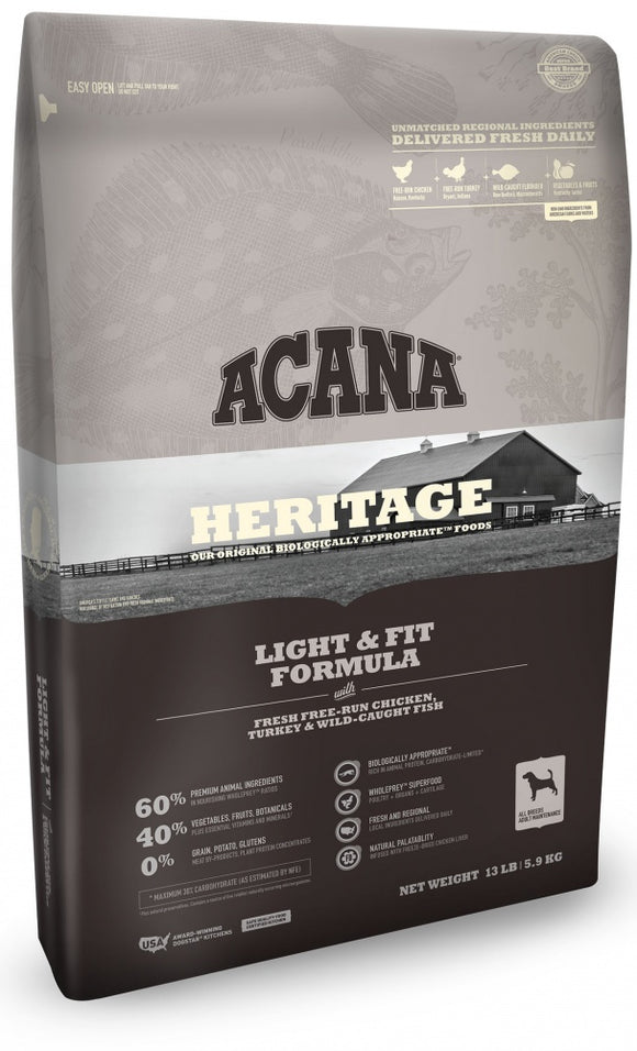 Acana Heritage Light & Fit Formula Dry Dog Food