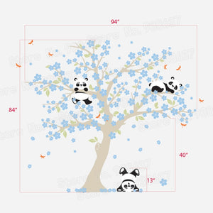 Sticker Cerisier à Pandas