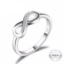 Infinity Forever Love Promise Ring For Women Genuine 925 Sterling Silver Fine Jewelry