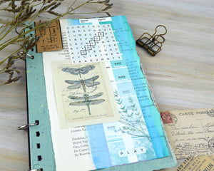 Make creative Junk Journal pages with free Printable Word Search puzzles