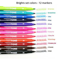 Color Marker Sets, Twin Tone Pens by Tombow
