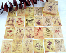 Botanical Plant and Animal Postage Sticker Set