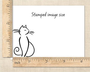 Sophisticated Cat Stamp, Cat Rubber Stamp