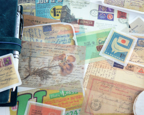 Vintage Mail Ephemera Washi Stickers