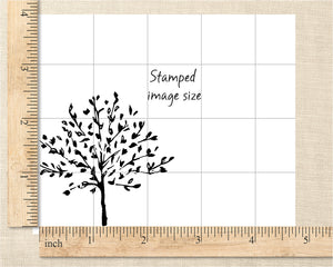 Sketched Tree Rubber Stamp, Hand Drawn Botanical Stamp