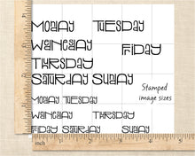 Saba Weekday Clear Stamp Set, 4x4in Days of the Week Bullet Journal Stamps