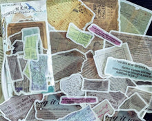 Torn Vintage Ephemera Washi Stickers, Junk Journal Supplies
