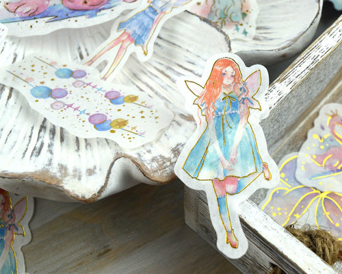 Magical Fairy Washi Stickers 60 pcs, Fantasy Journaling Supplies