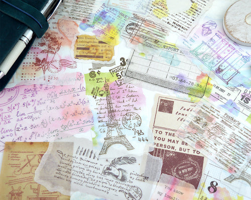 Watercolor Ephemera Washi Stickers