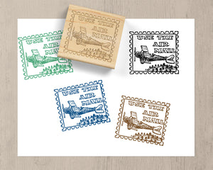Vintage Air Mail Rubber Stamp