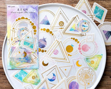 Moon Geometry Gold Foil Washi Stickers