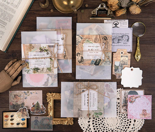 Junk Journal Ephemera Kit - Die Cuts and Stickers