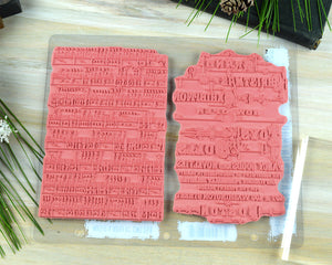 Christmas Background Stamp, Holiday Music Rubber Stamp